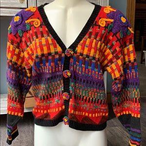 Vintage Carole Little petite sweater small S crop